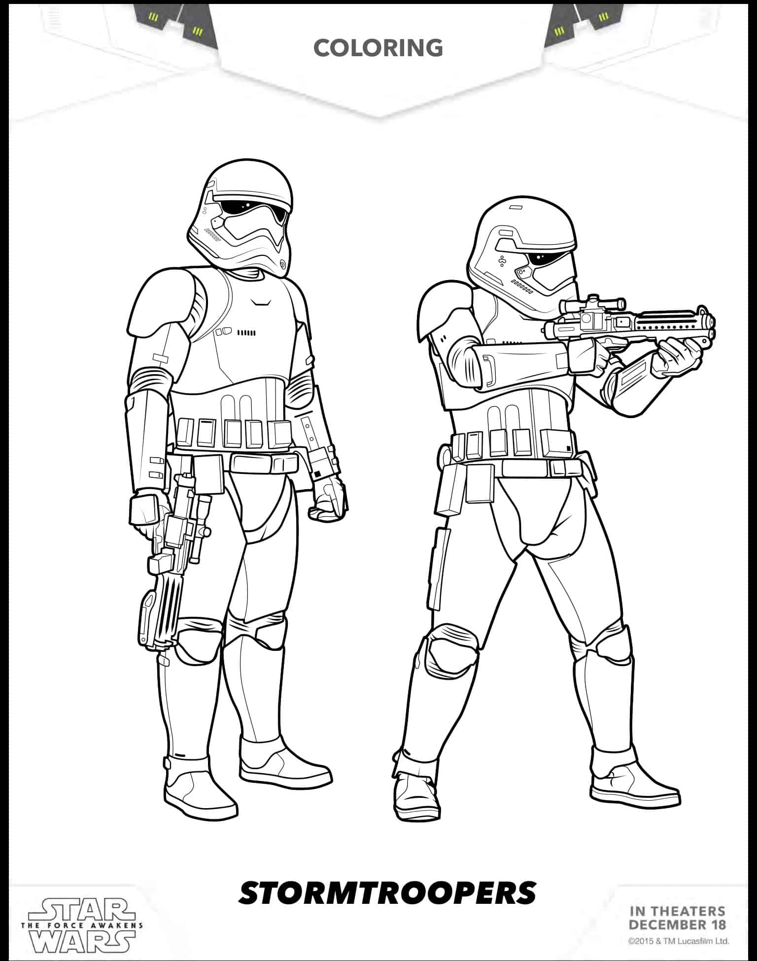 first order stormtrooper coloring pages - photo#15