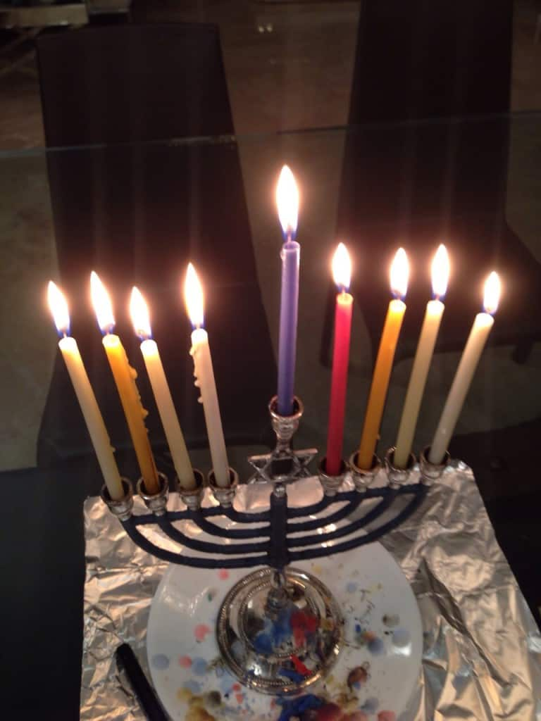 lighted chanukkah