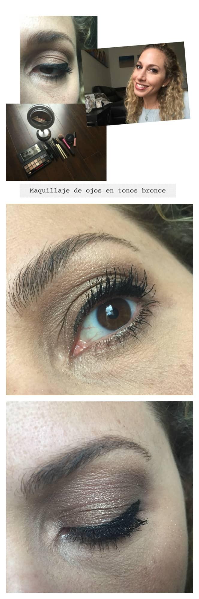 Maquillaje de ojos en tonos bronce paso a paso