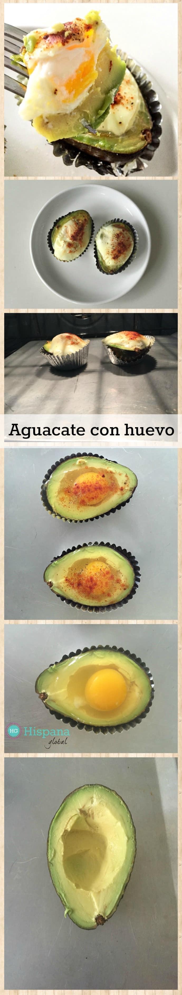 Precalentar el horno a 425° F (218º C). Cortar una palta o aguacate maduro por la mitad y quitarle el carozo o semilla. Con una cuchara agrandar un poco más el hueco donde estaba el carozo para que allí vaya el huevo. Colocar sobre una bandeja de metal para hornear; yo puse la palta o aguacate sobre un papel de aluminio para muffins o panecillos para que no se manche la bandeja. Espolvorear sal. Agregar el huevo crudo y sal pimentar. También puedes agregar pimienta de cayena, páprika, chile o cualquier otra especia que te guste. Hornear por 17 a 20 minutos (depende de tu horno y de cuán cocinados te gustan los huevos). ¡Servir y disfrutar!
