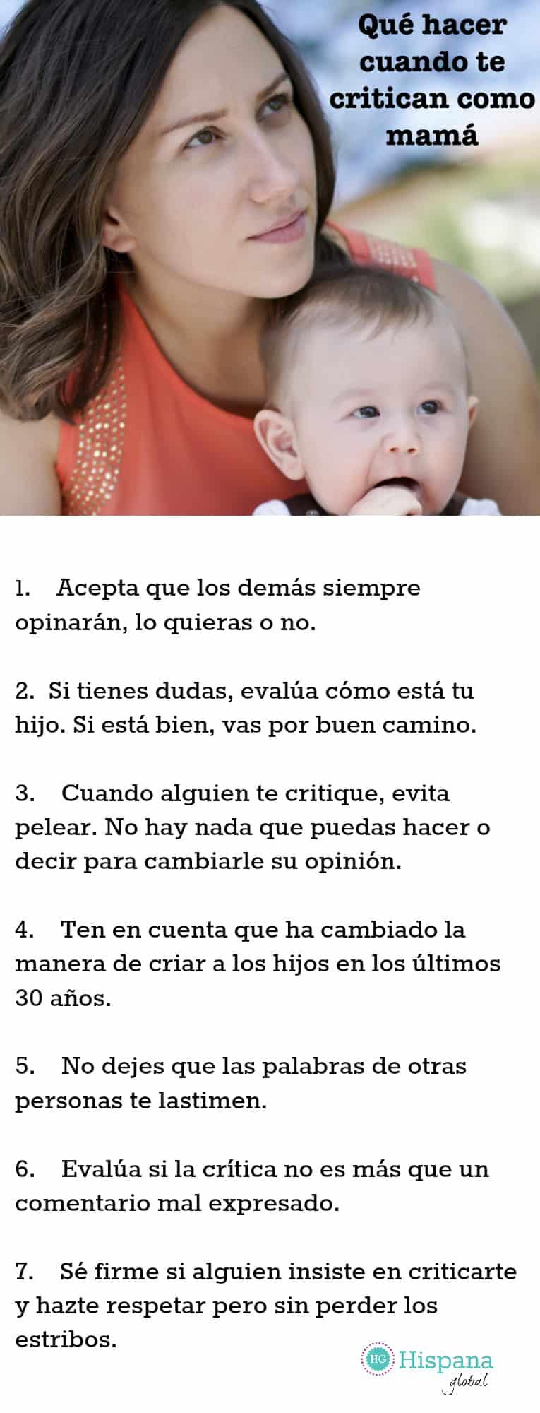 Qué hacer cuando te critican como madre
