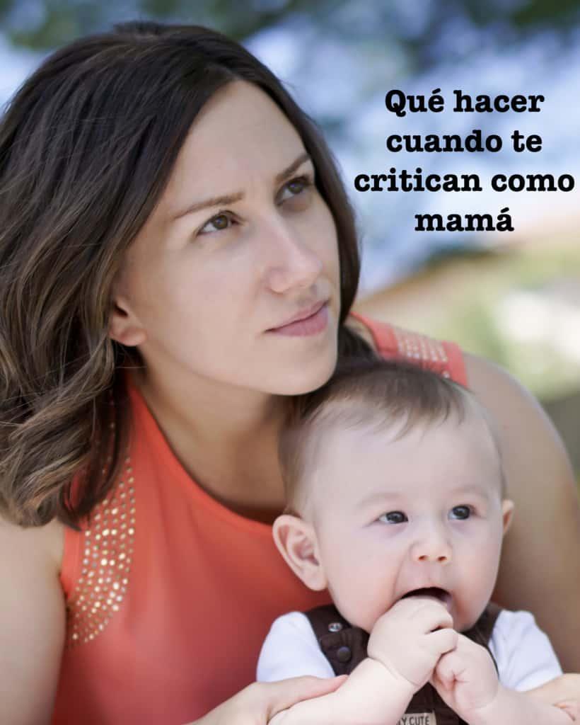 qué hacer cuando te critican como mamá