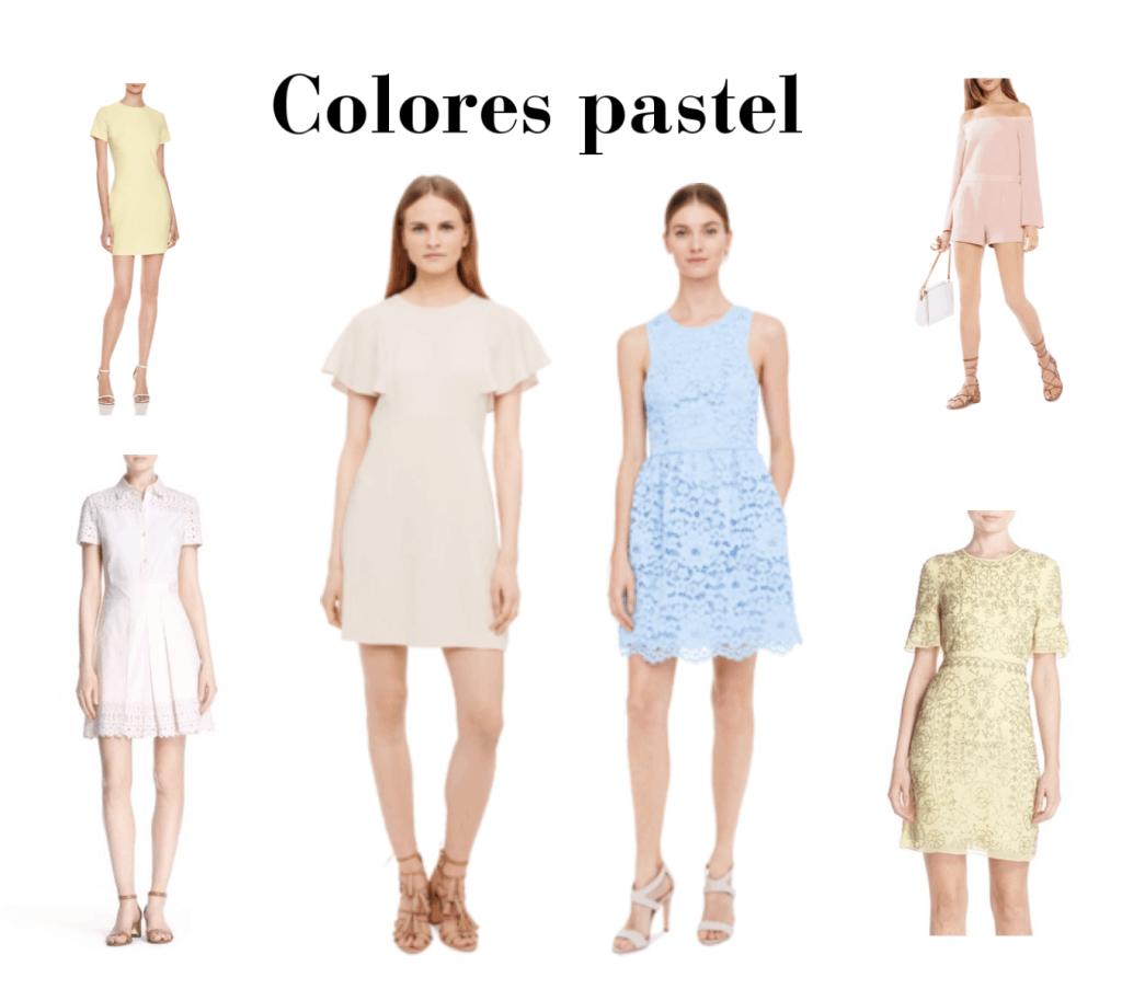 Colores pastel de moda para primavera veranos 2016