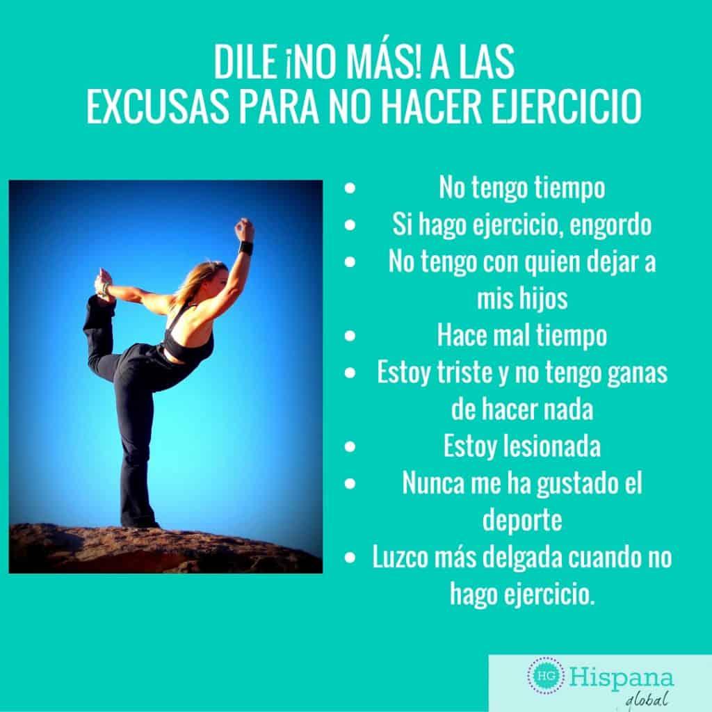 Dile no más a las excusas para no hacer ejercicio