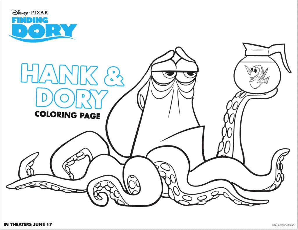 Hank y Dory dibujos para colorear
