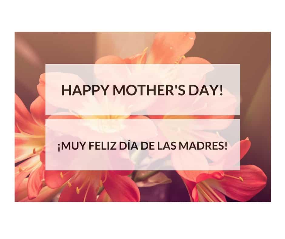 Happy Mother's Day bilingual ecard Feliz Día de las Madres