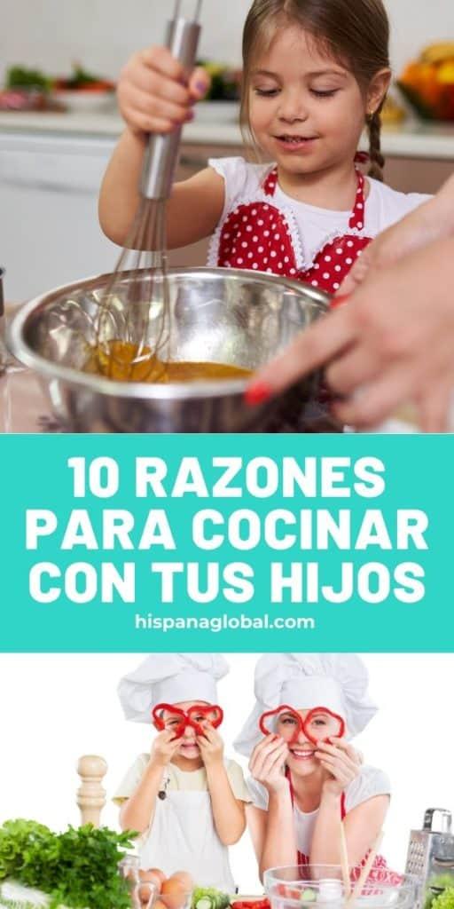 Cocinar con tus hijos puede ser una experiencia increíblemente enriquecedora. Tenemos 10 razones para motivarte a preparar las recetas junto a tus niños.