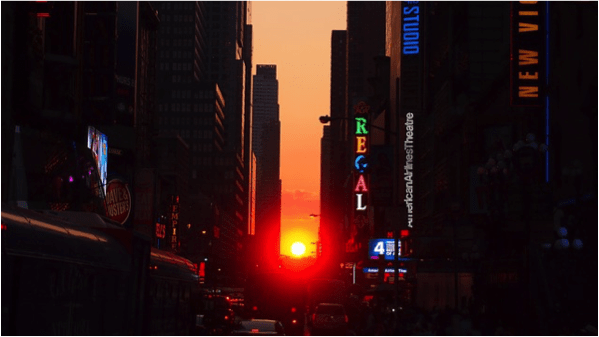 Manhattanhenge en Nueva York