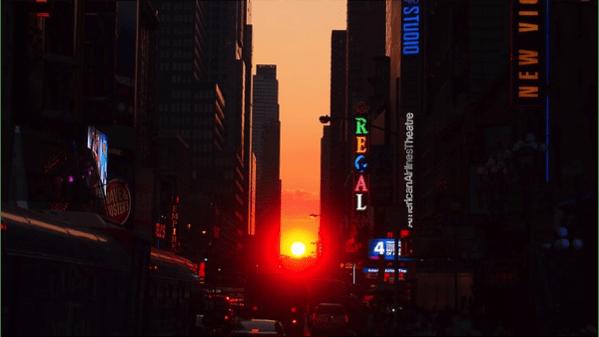 Manhattanhenge en Nueva York