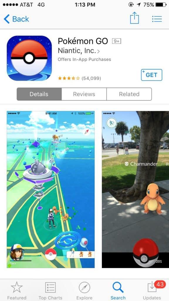 Pokemon Go juego de realidad aumentada