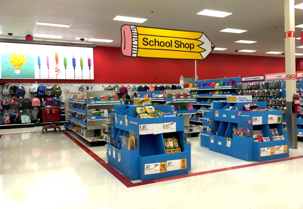 Target Back to school shop