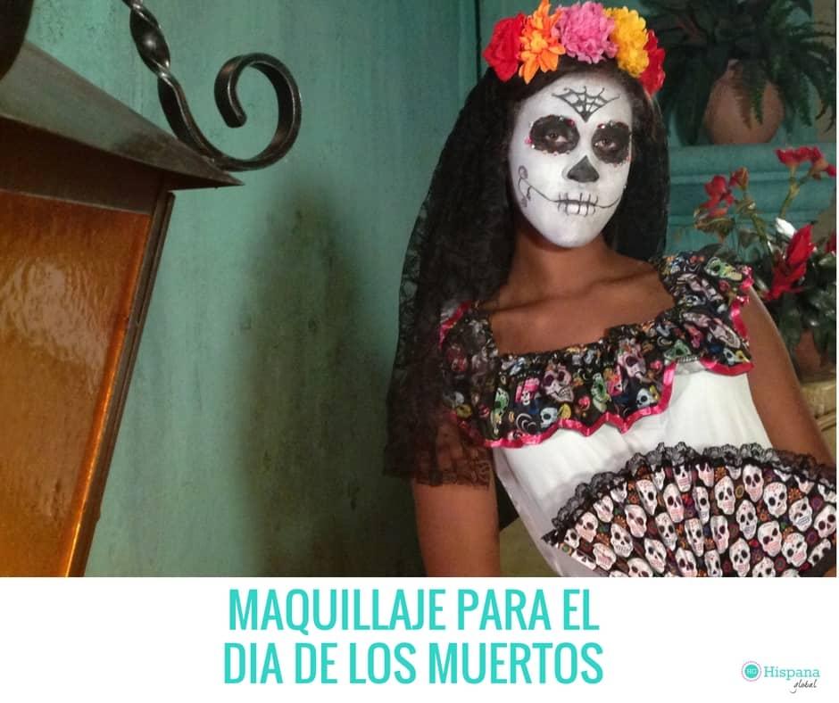 Video maquillaje de catrina para el d a de los muertos hispana global - Maquillage dia de los muertos ...