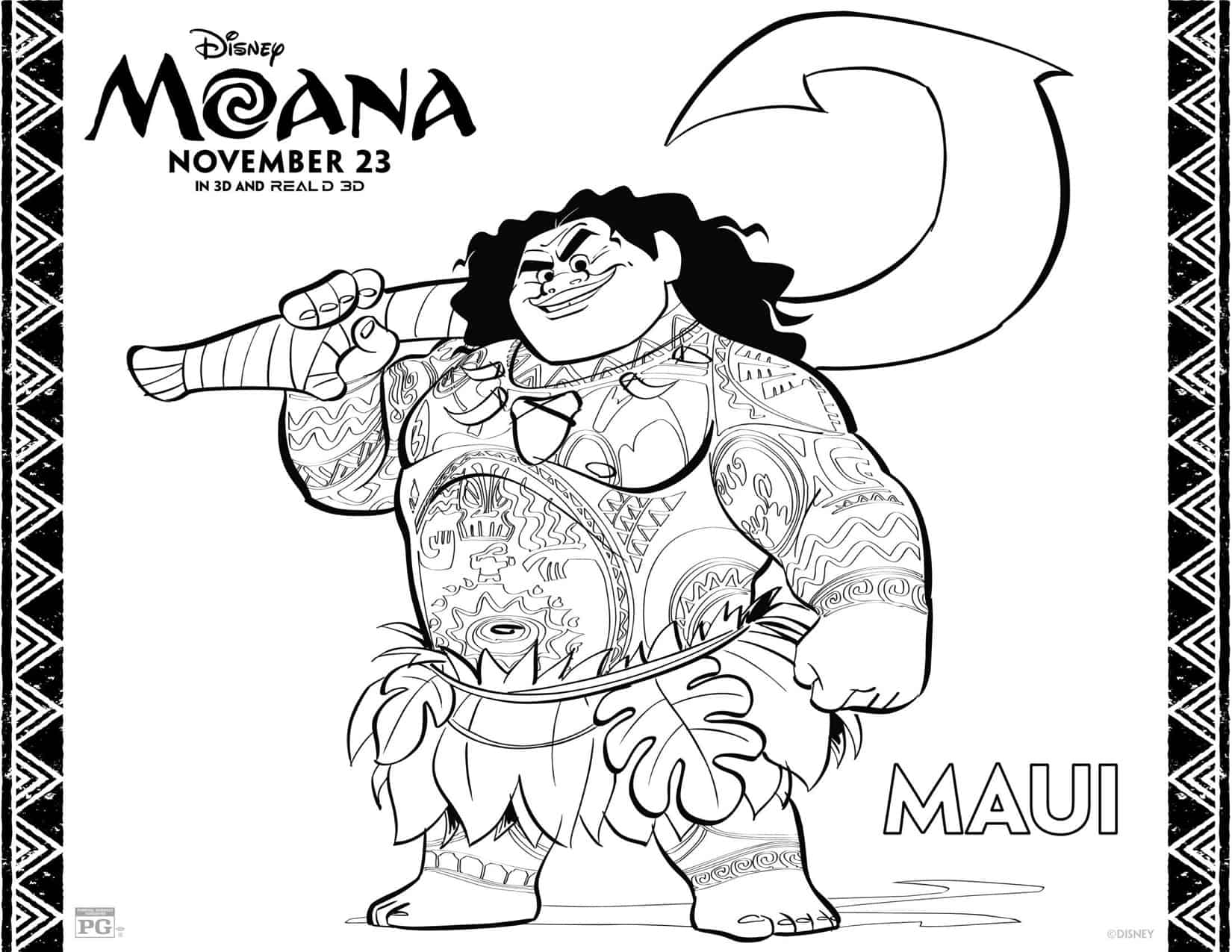 Worksheet. Dibujos para colorear gratis de Moana  Hispana Global