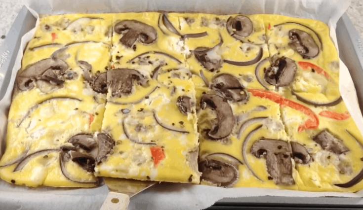 Omelette horneada de vegetales