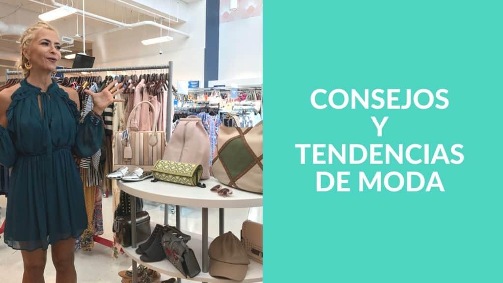 Consejos y tendencias de moda, como mangas anchas, vuelos, lazos y accesorios étnicos