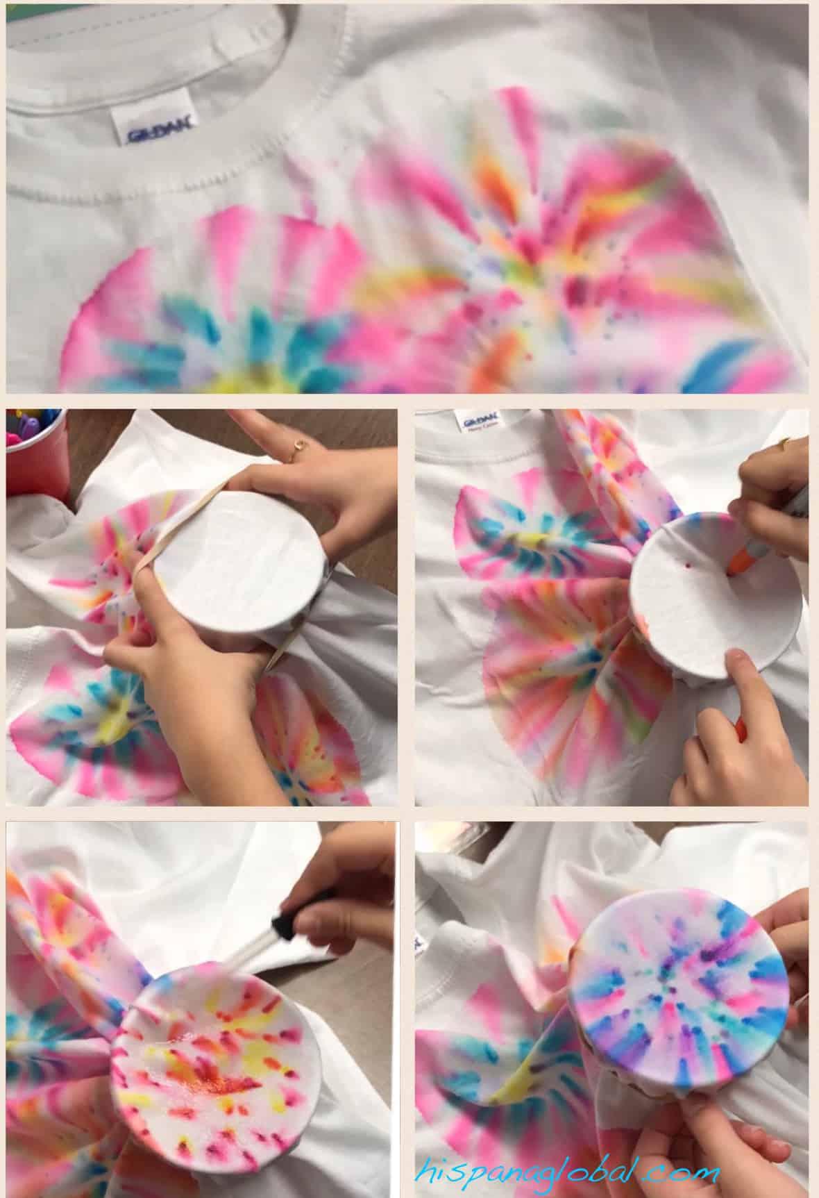 Cómo hacer camisetas o playeras teñidas con plumones o marcadores indelebles