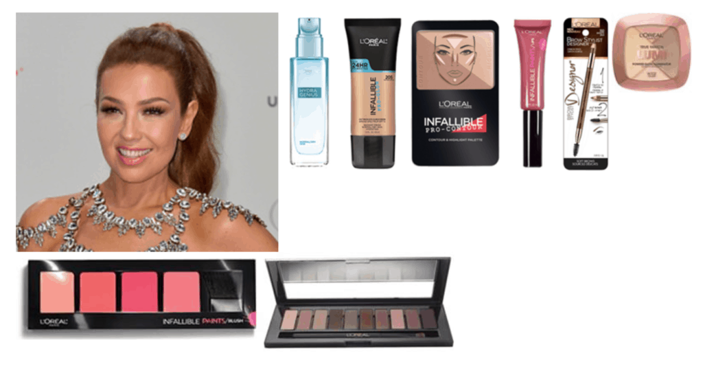 Maquillaje de Thalía