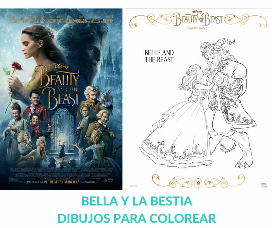 Hermosos Dibujos Para Colorear De Bella Y La Bestia Hispana Global