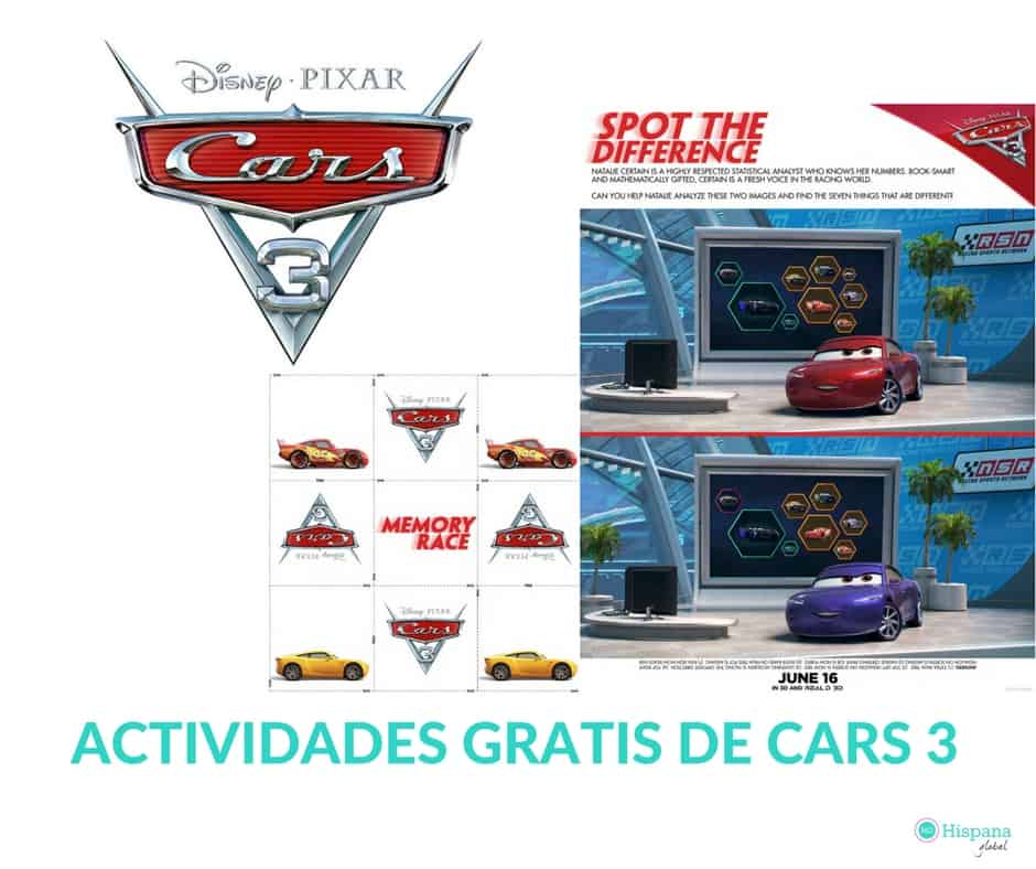 Actividades gratis para niños de Cars 3 que puedes imprimir en casa ...