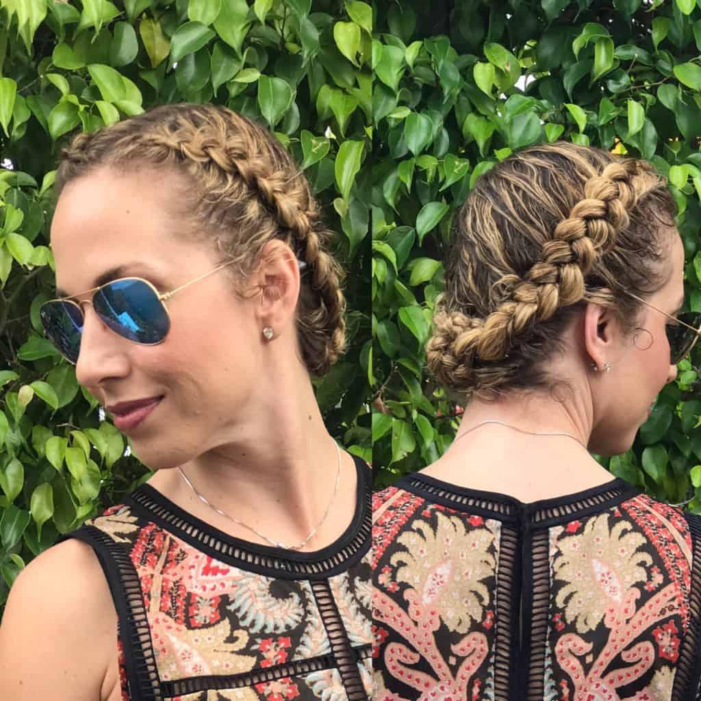 Cómo hacer un peinado con diadema o recogido de trenzas