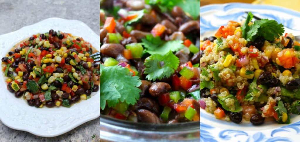 ensaladas, ensaladas de verano, caviar de texas, frijoles, ensalada de quinoa, cilnatro, ensaladas fácles