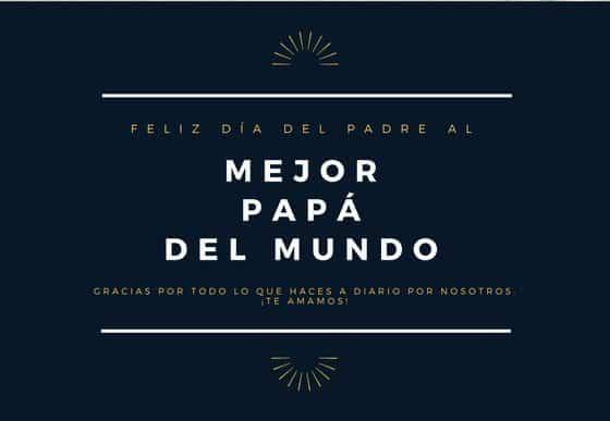 Tarjetas gratis para el día del padre