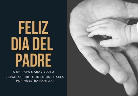 Feliz día del padre, tarjeta gratis vía hispanaglobal.com