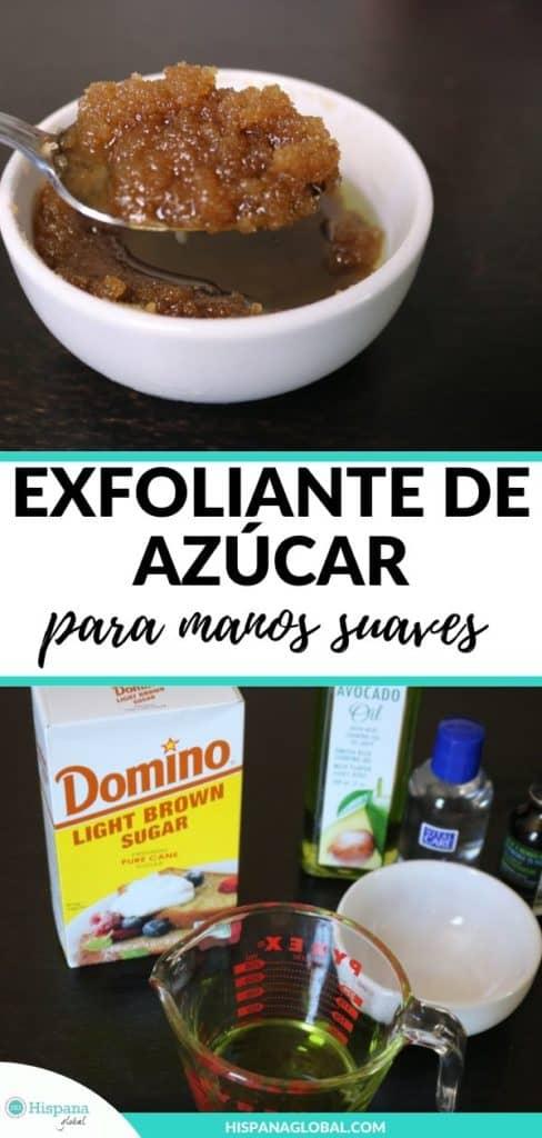 Cómo hacer exfoliante o scrub de azúcar para manos suaves