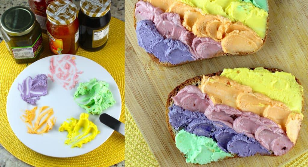 cómo hacer tostadas de unicornio