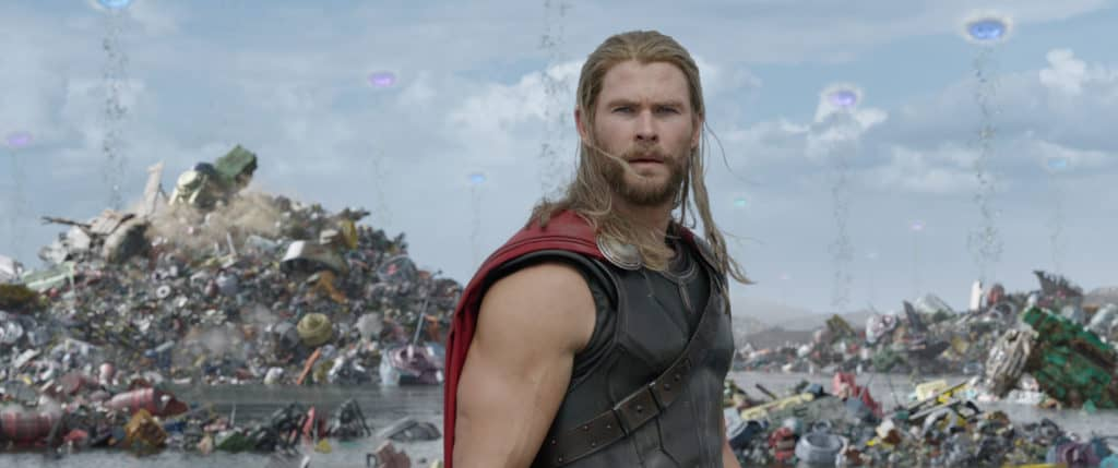 Thor Ragnarok con Chris Hemsworth