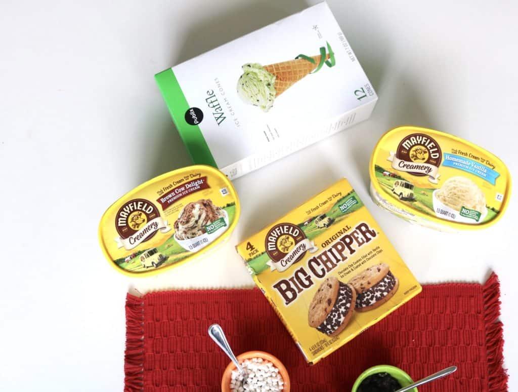 Ingredientes para hacer una tarde de helados