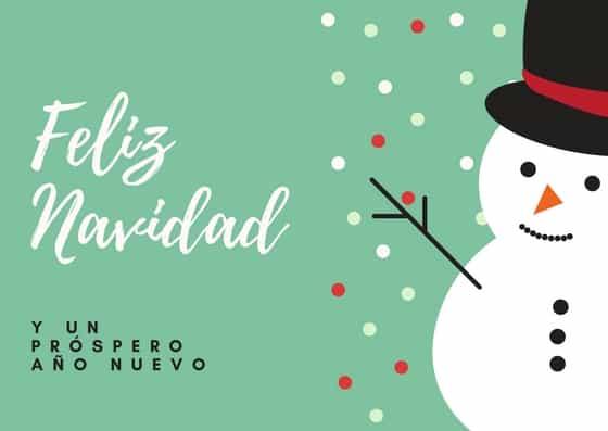 Imprime en casa tarjetas de navidad gratis