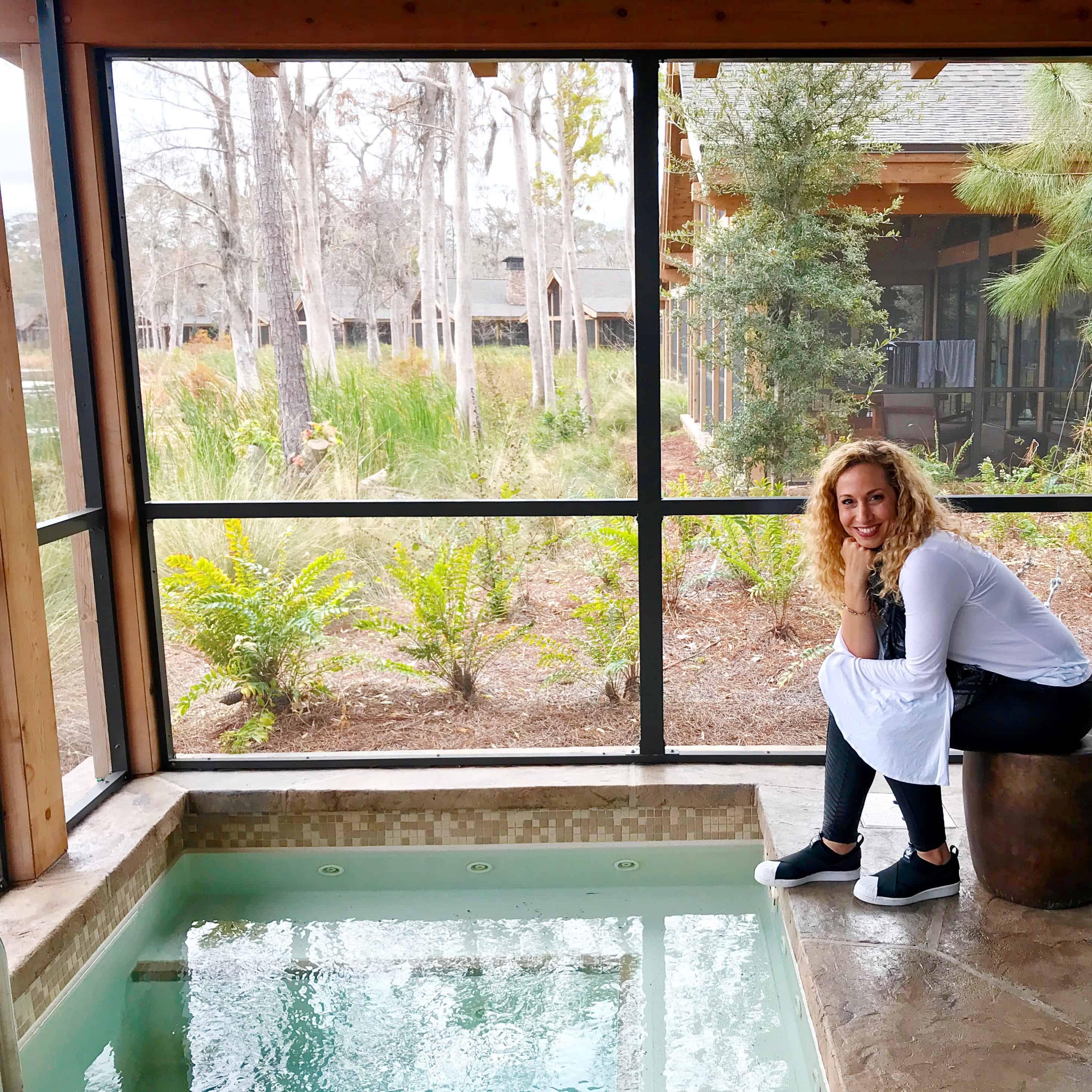 Jacuzzi en la Cascade Cabin de Copper Creek Villas and Cabins en Disneyworld