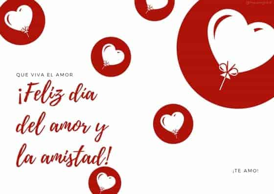 Estas tarjetas gratis son ideales para celebrar el día del amor y la amistad.