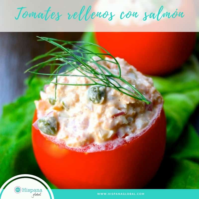 Receta para la cuaresma de tomates rellenos de salmón