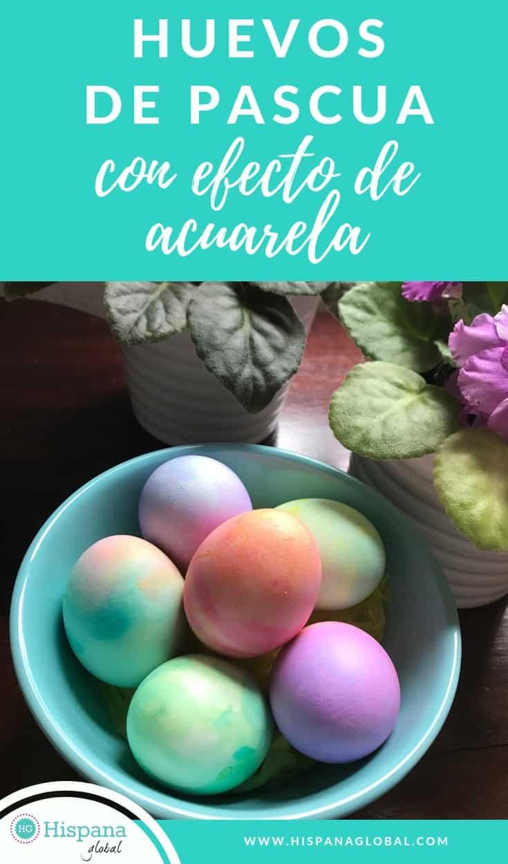 Cómo pintar huevos de pascua con efecto de acuarela