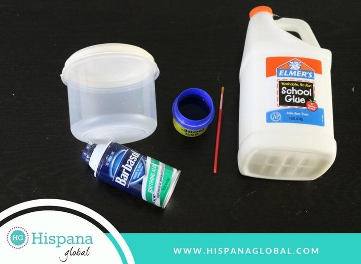 Ingredientes para slime esponjoso sin bórax