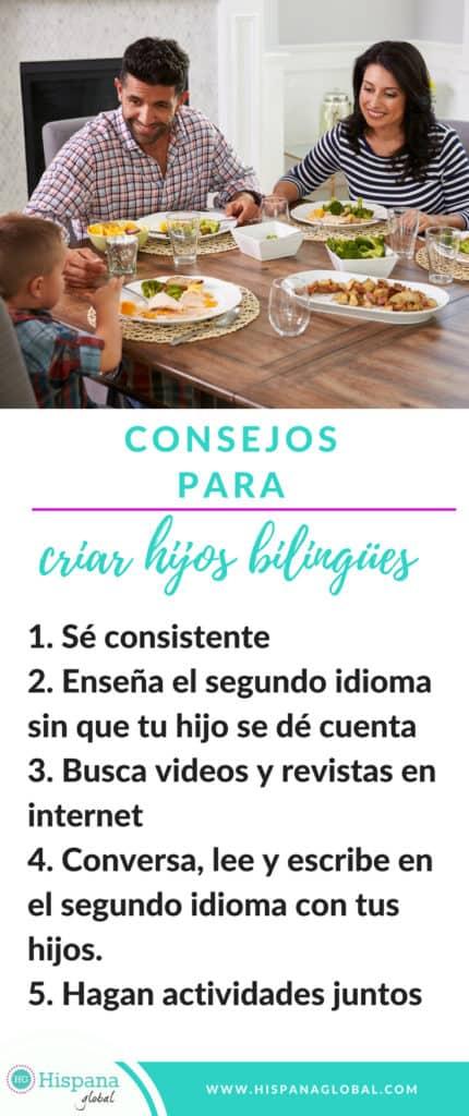 Consejos para criar hijos bilingues