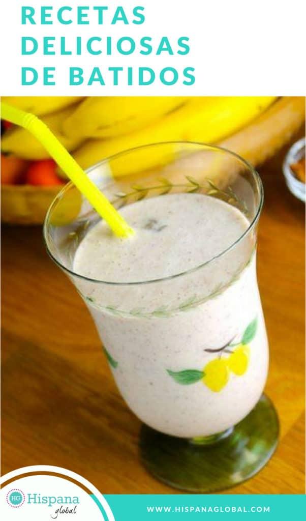 Recetas fáciles y deliciosas de batidos de frutas o smoothies