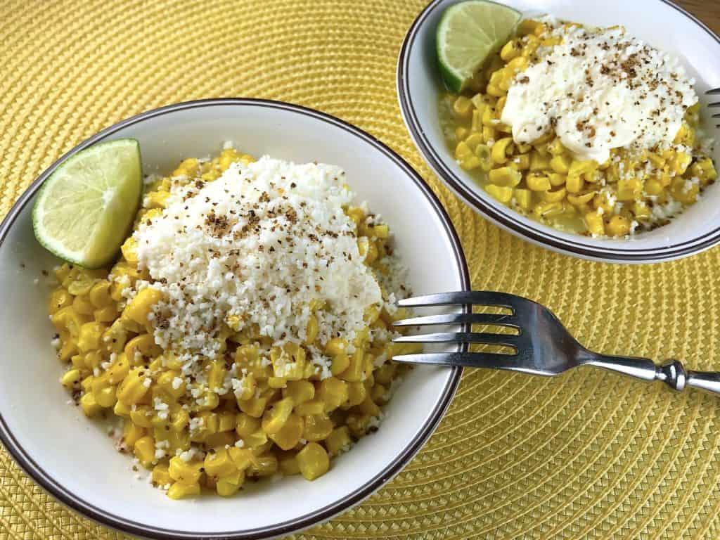 esquites, ensalada de maíz
