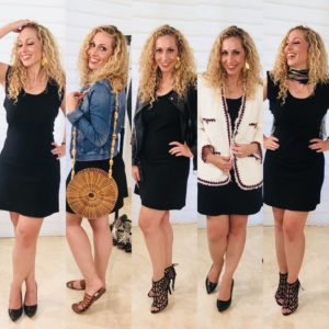 5 looks con un vestido negro