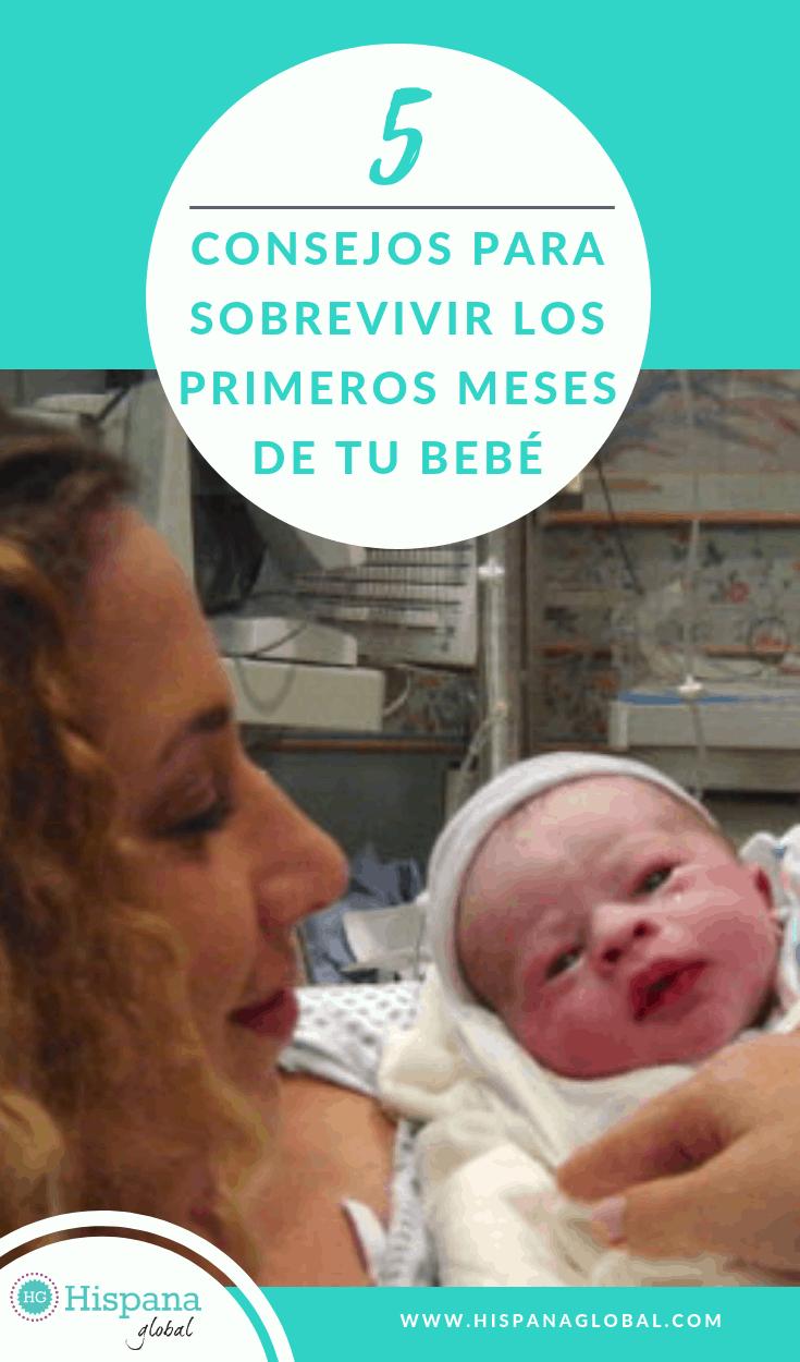 5 consejos para sobrevivir los primeros meses con tu bebé