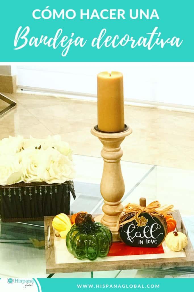 Cómo hacer una bandeja decorativa