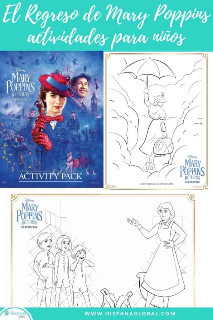 Divierte a los niños con estos dibujos para colorear y actividades de la nueva película El Regreso de Mary Poppins (Mary Poppins Returns). ¡Son gratis!