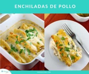 Receta muy fácil de enchiladas de pollo