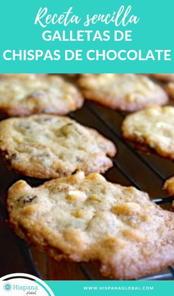 Estas galletas de chispas de chocolate o chocolate chips son deliciosas y muy fáciles de hacer. ¡Te damos un truco para que todas queden del mismo tamaño!
