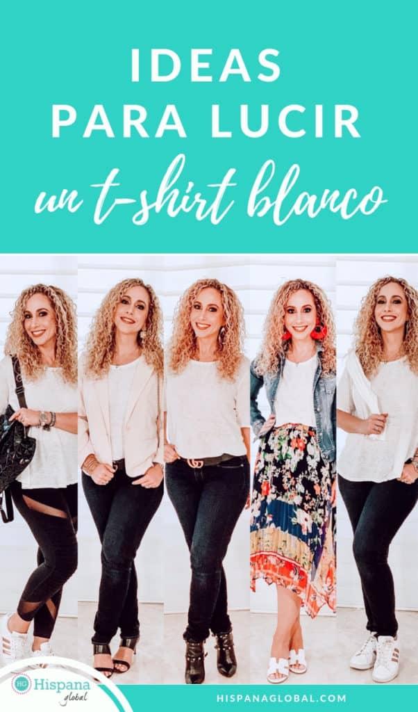 La camiseta blanca es un elemento básico en cualquier armario. ¡Descubre cómo combinar un simple t-shirt para lucir looks diferentes sin gastar una fortuna!
