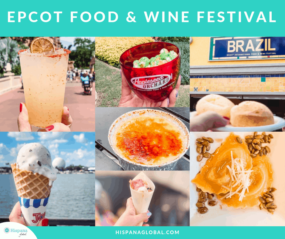 Platillos y bebidas de Epcot Food and Wine Festival