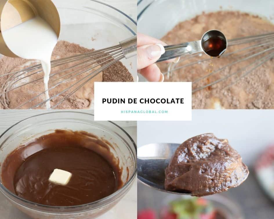 Delicioso budin de chocolate
