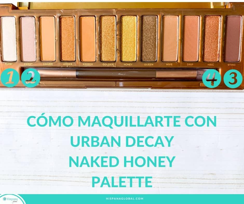 ¿Buscas un tutorial de maquillaje de ojos fácil usando la nueva colección de sombras Urban Decay Naked Honey y así aprender cómo maquillarte? ¡Tenemos instrucciones y un video paso a paso!